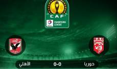 دوري ابطال افريقيا : الاهلي المصري يعود من غينيا بتعادل واصابتين