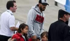 لقاء مؤثر يجمع سواريز وأطفاله بعد الشفاء من كورونا