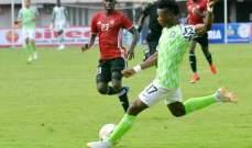 اصابة قلبية خطيرة للاعب نيجيريا في التمارين