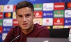 كوتينيو : مندهش من غياب برشلونة عن لقب دوري الابطال في الفترة الاخيرة