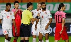 احصاءات من مباراة كوريا الجنوبية ولبنان