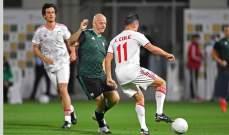 انفانتينو يستعرض مهاراته الكروية في دبي