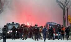 اشتباكات في الشوارع بين جماهير برشلونة وليون