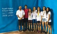 البطولة العربية في السباحة: 11 ميدالية ملوّنة للبنان