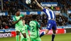 الليغا: ديبورتيفو الافيس ينقاد لتعادل مرير بين جماهيره امام ليغانيس