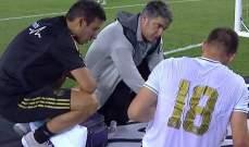 لعنة الاصابات تنهال على ريال مدريد
