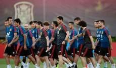 هييرو في تدريبات المنتخب الاسباني للمرة الاولى