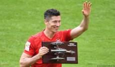 ليفاندوفسكي ينال جائزة هداف الدوري الالماني