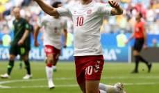 ايركسن افضل لاعب في مباراة استراليا والدنمارك