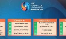 قرعة بطولة الأندية الآسيوية للصالات تضع بنك بيروت بالمجموعة الرابعة