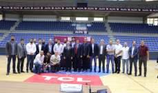 توقيع عقد الرعاية بين شركة الفا والاتحاد اللبناني لكرة السلة