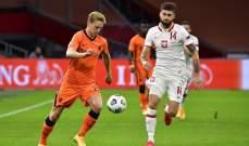 دي يونغ: بولندا منافس قوي وسيطرنا على المباراة بشكل جيد