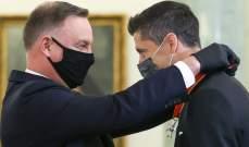 بولندا تكرّم ليفاندوفسكي على إنجازاته الكروية