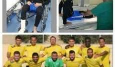 إصابة لاعب النبي الشيت محمد عطوي
