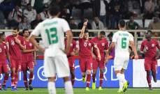 فيديو: لاعبو قطر يرقصون في استاد آل نهيان عقب الفوز على العراق