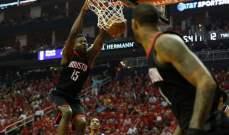 NBA PLAYOFFS : هيوستن يحسم السلسلة وكليفلاند يتقدم 3 - 2 على انديانا
