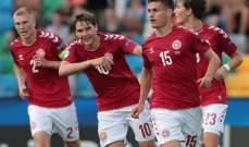 بطولة أوروبا تحت 21 سنة: الدنمارك تفوز على النمسا بالثلاثية