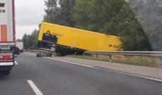 تعرض شاحنة رينو لحادث