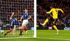 مباراة ودّية : بلجيكا تكتسح اسكتلندا في عقر دارها