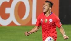 علامات لاعبي مباراة تشيلي - اليابان