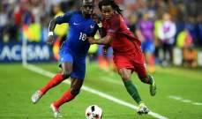 انتهاء الوقت الاصلي بالتعادل السلبي في النهائي بين فرنسا و البرتغال