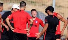 تريبيير يخوض اول جلسة تدريبية مع اتلتيكو مدريد