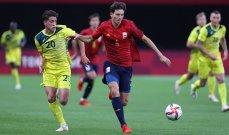 كرة قدم- طوكيو 2020: اسبانيا تتقدم الى صدارة المجموعة الثانية