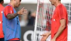 كوتينيو وبيريسيتش في تدريبات الفريق البافاري