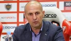 الصربي ألكسندر فيسيلينوفيتش مدرباً للباطن