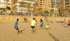 افتتاح البطولة الشاطئية لكرة القدم على ملعب الرملة البيضاء