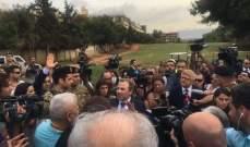 وزير خارجية لبنان في رسالة ضد اسرائيل: قريبا بدنا نلعب بملعب العهد
