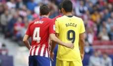 فياريال يعلن أن مواجهة أتلتيكو مدريد ستقام في إسبانيا