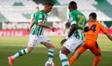 الدوري الإسباني: تعادل إيجابي بين بيتيس وفالنسيا وسلبي بين سلتا فيغو وقادش