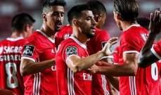 بنفيكا يعزز موقعه في وصافة الدوري البرتغالي