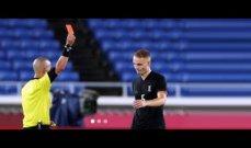 حكم المباراة الاولمبية بين السعودية والمانيا اخطأ مرتين