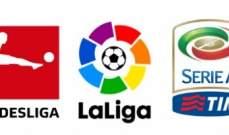 خاص: أبرز الأحداث الكروية في الدوريات الاوروبية الكبرى نهاية الاسبوع الفائت
