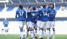 كأس الاتحاد الانكليزي: ايفرتون يعبر بصعوبة امام روثرهام بعد أشواط اضافية