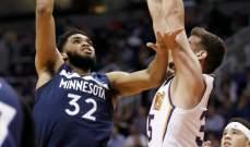NBA: مينسوتا يعمق جراحات فينيكس وتورنتو يعزز وصفاته