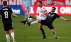 الليغا: ريال مدريد ينهي الشوط الاول بالتعادل السلبي امام اشبيلية