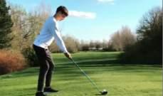 جورج راسل غير ناجح في رياضة الغولف