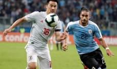 علامات لاعبي مباراة الاووغواي واليابان في كوبا اميركا