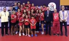 عودة بعثة كرة الطاولة من البطولة العربية مع 11 ميدالية