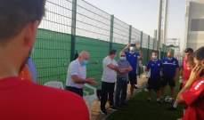 زيارة حيدر والشحف لمعسكر المنتخب في دبي