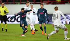 أتلتيكو مدريد يسحق لوكوموتيف موسكو ويتأهل للدور ربع النهائي