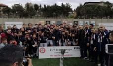 النجمة بطل دوري الشباب للموسم الثالث على التوالي