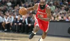 NBA:هاردن افضل المسجلين وويستبروك افضل الممررين هذا الموسم