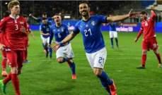 أهم إحصاءات مباراة ايطاليا - ليشتشتاين