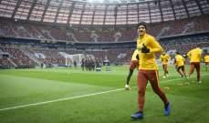 لاعبو روما يتدربون في موسكو