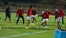 تعرض مدافع منتخب مصر للاصابة في التمارين