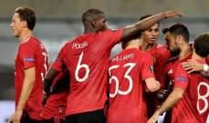 مانشستر يونايتد يهيمن على ارقام الموسم الحالي للدوري الاوروبي